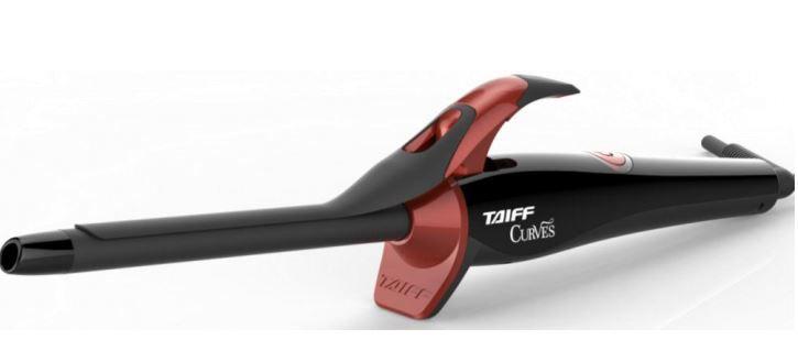 """Modelador de Cachos Taiff Curves 1/2 """" Preto e Bordo - Bivolt"""