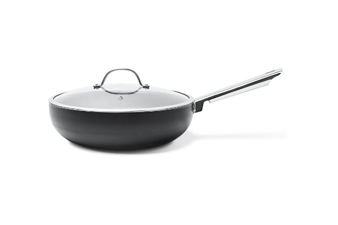 Wok com Tampa 3,55 Litros - Curry Ø28 cm- Preto - Brinox