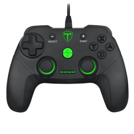 Controle Gamer T-Dagger Aires T-TGP500 para Switch PC PS3 - Preto