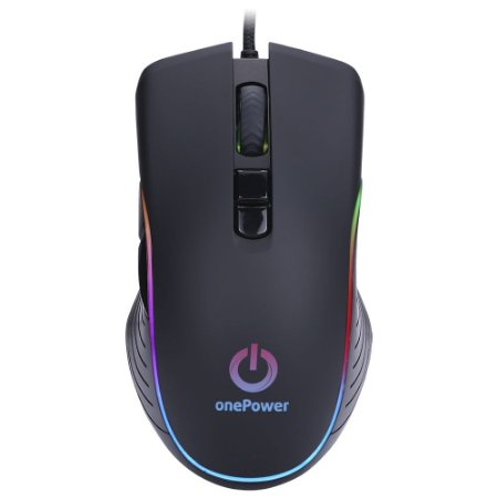 Mouse Gamer OnePower Striker MO-505 Usb 7 Botões 3200Dpi - Preto