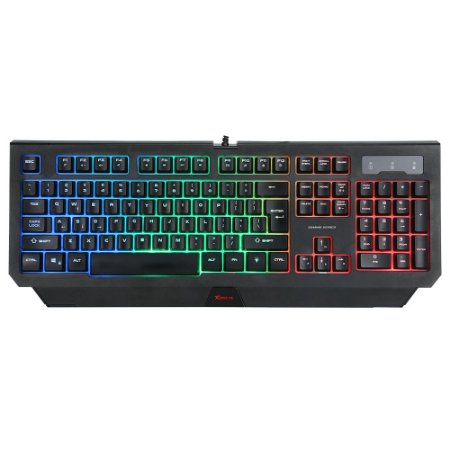 Teclado Gamer Xtrike-Me KB-507 Usb Membrana Rainbow KB-507 - Preto