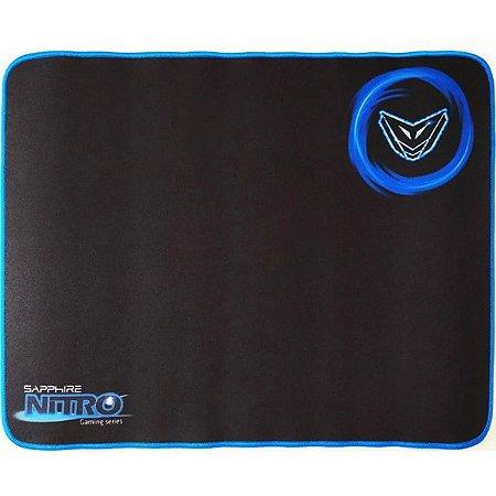 Mouse Pad Gamer Grande Sapphire Nitro 45 x 35 cm - Preto