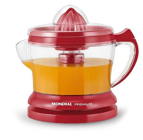 Espremedor de Frutas Mondial Premium 1.25 Litros E-23 - Vermelho