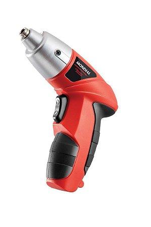 Parafusadeira Elétrica Mondial FPF-04 Vermelha - Bivolt