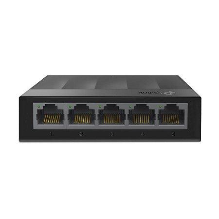 Switch Gigabit TP-Link LS1005G 5 Portas Ethernet 10/100/1000 Mbps - Preto
