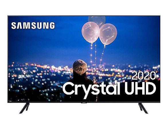 "Smart TV Led Samsung 55"" Crystal UHD 4K 3 HDMI 2 USB Wi-Fi Bluetooth Borda Infinita UN55TU8000 - Preta"