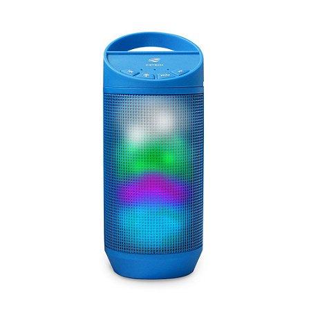 Caixa de Som Portátil com Led 8W Speaker Bluetooth Azul - Beat SP-B50BL - C3Tech
