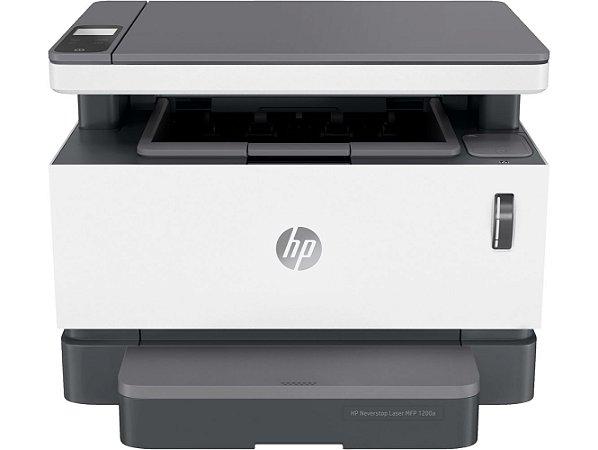 Impressora Muntifuncional HP Laser Neverstop MFP 1200a Branco e Cinza - 110V