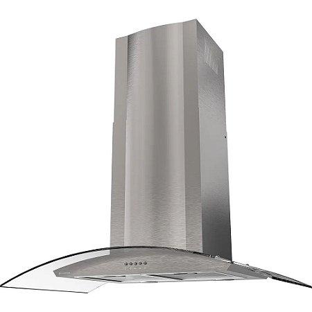 Coifa de Parede 90cm Inox Vidro Curvo - Curvature CFA391- Cadence