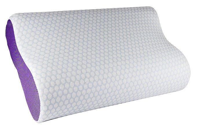 Travesseiro Ortopédico RelaxMedic Gel Dr. Coluna - Cinza