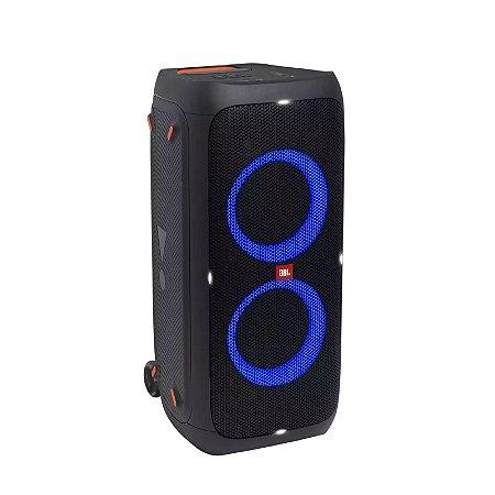Caixa de Som Portátil com Led 240W IPX4 À Prova de Respingos e Função Karaokê USB Bluetooth Preto - PartyBox 310 - JBL