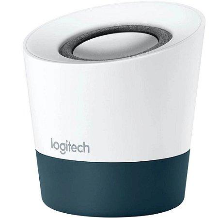 Caixa de Som Logitech Z51 Portátil 10W RMS USB P3 - Branco e Azul
