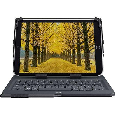 """Capa com Teclado Logitech Universal Folio com Conexão Bluetooth 3.0 para Tablets de 9-10"""" e iPad - Preto"""