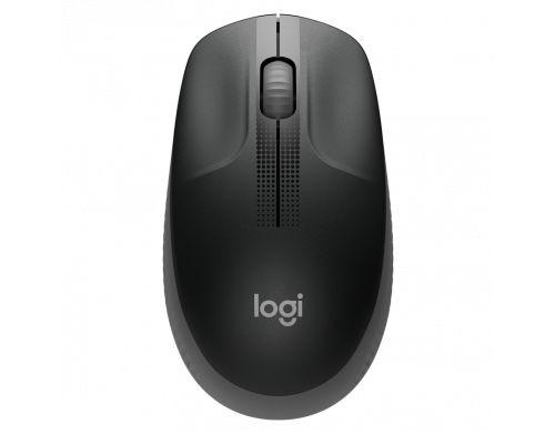 Mouse sem Fio Logitech M190 1000 dpi - Cinza