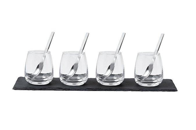 Conjunto Mini Copos Haus Concept para Sobremesa e Licor 9 Peças Satisfy - Incolor