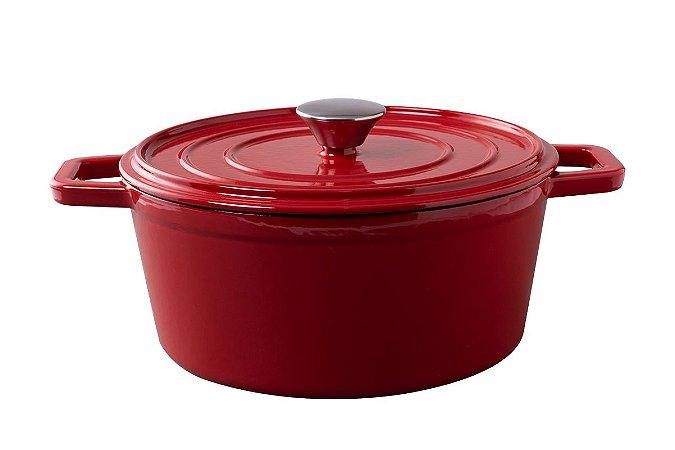 Caçarola de Ferro Haus Concept Sauté 26x12,2cm 4,8 Litros - Vermelha