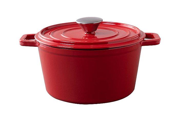 Caçarola de Ferro Haus Concept Sauté 20x10cm 2,5 Litros - Vermelho