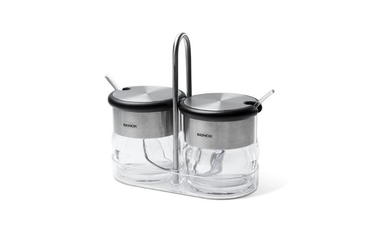 Conjunto Porta Condimentos 110 ml 2 Peças - Crystal 15,2 x 7,5 x 4,8 cm - Brinox