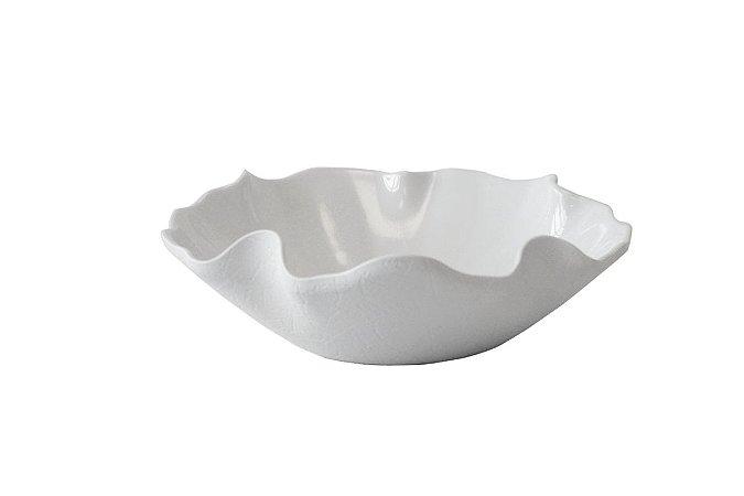 Saladeira Haus Concept Lotus Funda 33x30x9,7cm 4 Litros - Branco