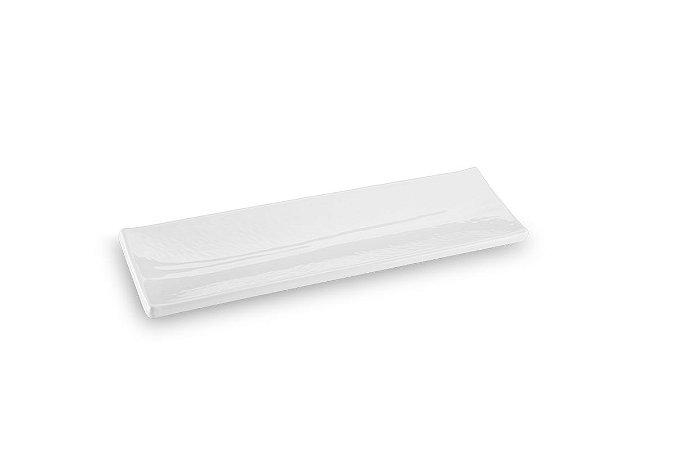 Travessa Retangular Haus Concept Texture 40,5x12,5x2,8cm - Branco