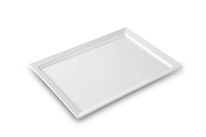 Travessa Retangular Haus Concept Catering 44x32x3,3 cm - Branco
