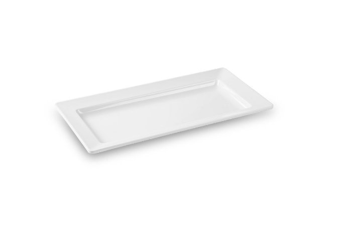 Travessa Retangular Haus Concept Quadro 45x23x4,5 cm - Branco