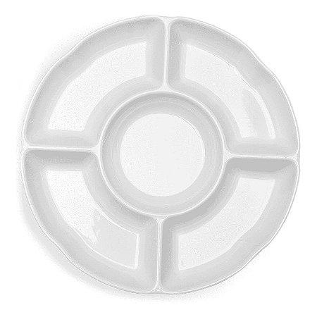 Petisqueira Haus Concept 5 Divisões 35,5X3,8cm - Branco