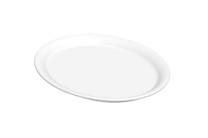 Prato Oval Haus Concept Cheff 30,8x25,3x2,3cm - Branco