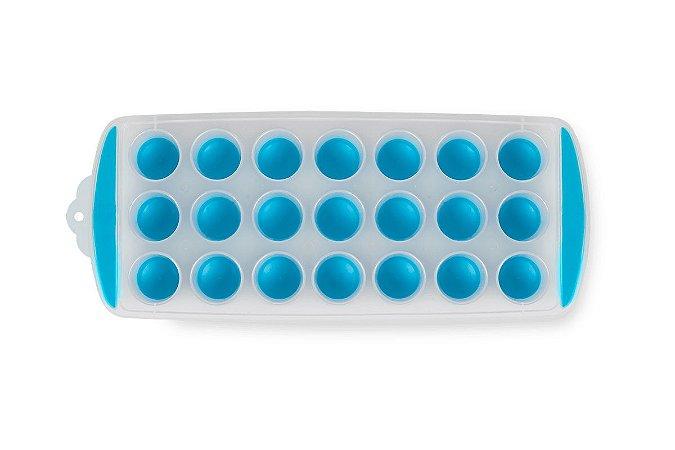 Forma de Gelo Redonda - Descomplica 29,8 x 11,7 x 2,7 cm - Azul - Brinox