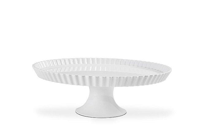 Boleira com Borda Haus Concept Buffet 22X7,5cm - Branco