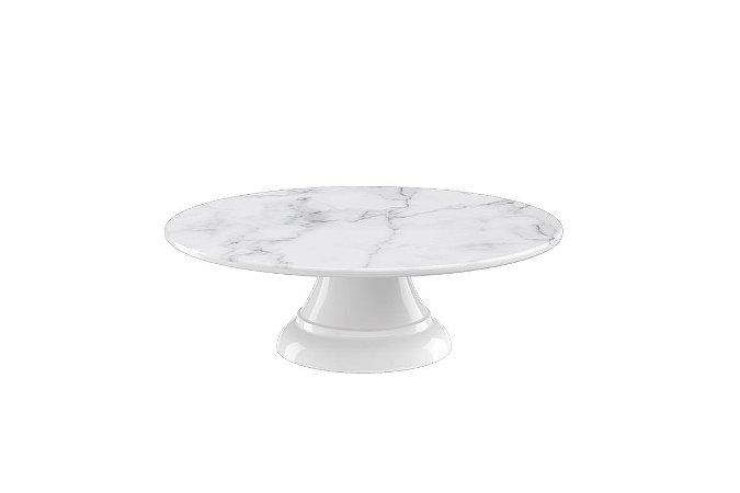 Boleira sem Borda Haus Concept Buffet 25X8,2cm - Branco Marmorizado