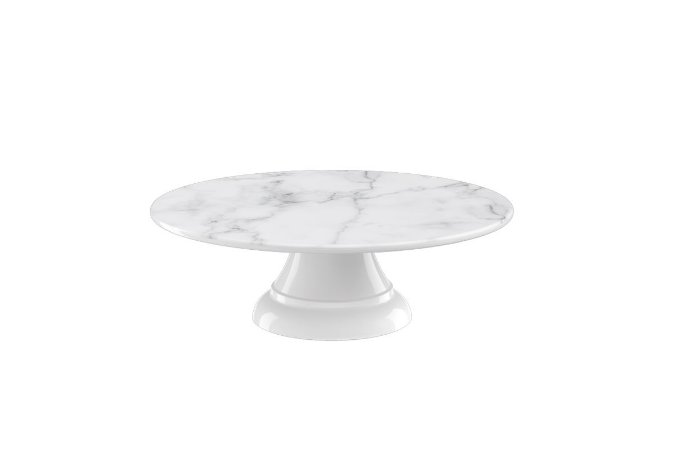 Boleira sem Borda Haus Concept Buffet 20X6,2cm - Branco Marmorizado