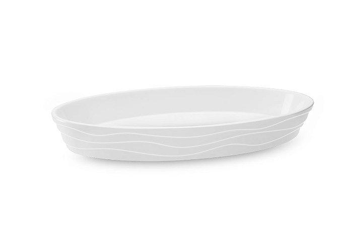 Travessa Funda Oval Haus Concept Buffet 28x17x4cm - Branco