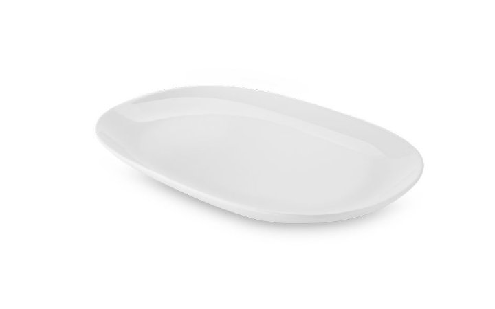 Travessa Rasa Oval Haus Concept Buffet 21,7x33,5cm - Branco