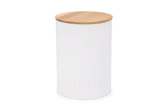 Pote Redondo para Café Haus Concept Canister 11,4x15,2cm - Branco