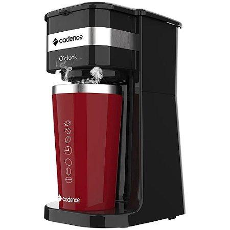 Cafeteira Elétrica com Copo Térmico 700W Preta e Vermelha - O'Clock CAF205 - Cadence