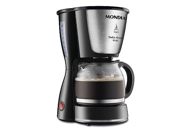 Cafeteira Elétrica 18 Xícaras 550W Preto e Inox - Dolce Arome C30I - Mondial