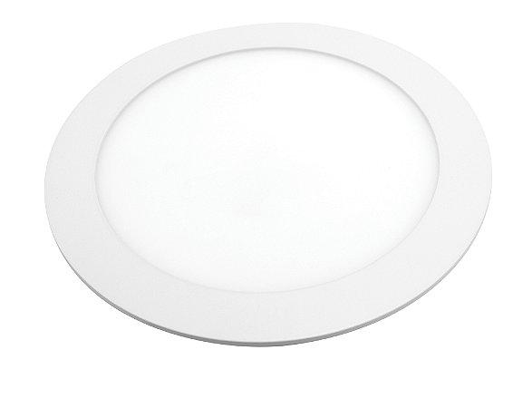 Painel de LED Lorenzetti Redondo de Embutir 18W 6500K Luz Branca