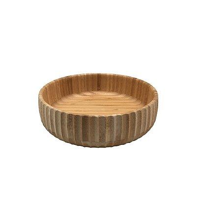 Bowl Canelado de Bambu Grande 22x6cm - Oikos