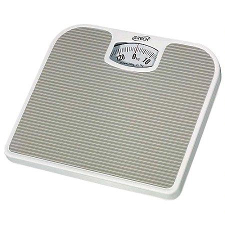 Balança Corporal Mecânica Até 130kg Antiderrapante - Cinza - Sport - G-Tech