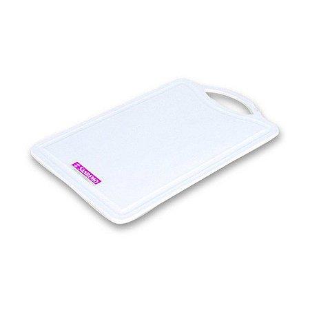 Tabua de Corte de Plástico Sanremo 27x18cm - Branco