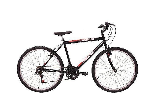 Bicicleta Aro 26 Thunder 18 Marchas Mountain Bike Track Bike - Preto
