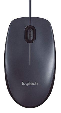 Mouse com Fio Logitech M90 Usb - Cinza