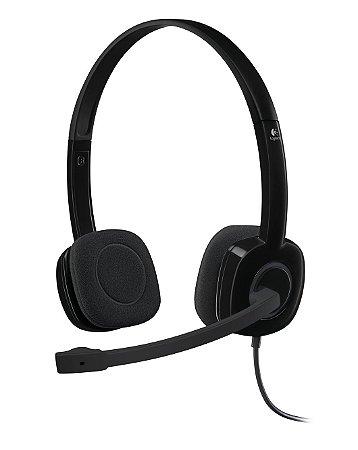 Headset com Fio Logitech H151 com Microfone com Redução de Ruído P3 - Preto