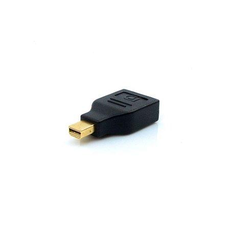 Adaptador PLUS CABLE Displayport Mini Fêmea  ADP-201BK - Preto