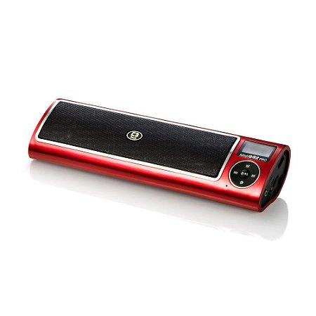 Caixa de Som Portátil 5W Speaker 2.0 P2 e USB Vermelha - Midiboxpro ST160IIRD - C3Tech