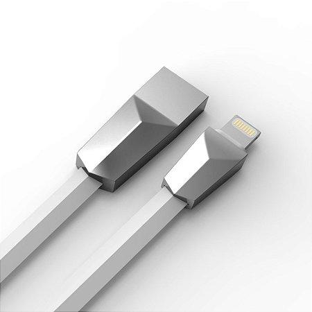Cabo USB-Lightning C3Tech CB-L170WH 1 Metro - Branco