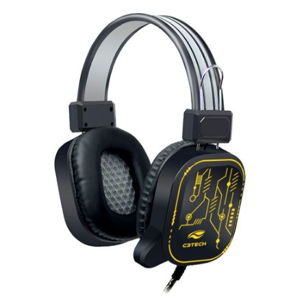 Headset Gamer C3Tech PH-G320BK Crane com Microfone Usb RGB - Preto