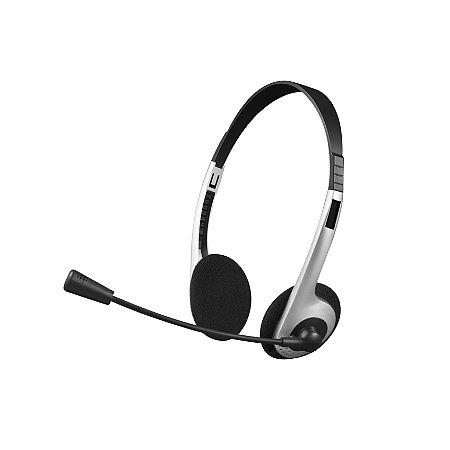Headset com Fio C3Tech PH-01SI com Microfone P2 - Prata