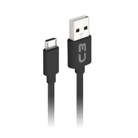 Cabo USB-Micro C3Plus CB-M11BK 2 Metros - Preto